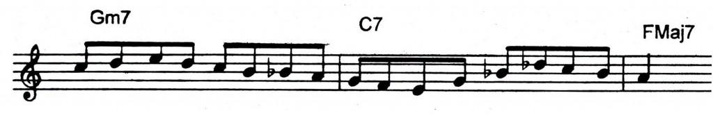 Easy bebop lick over a ii V7 I - Jazz lick 1