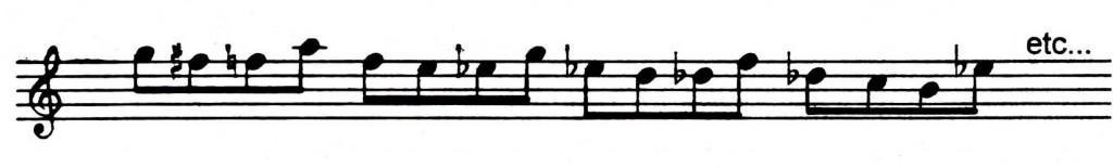 Cool sounding whole tone pattern - Jazz lick 4