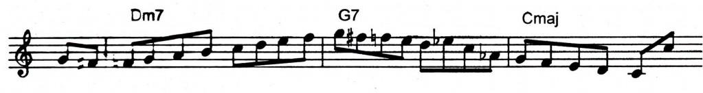 Freddie Hubbard bebop and ii V7 I lick - Jazz lick 6