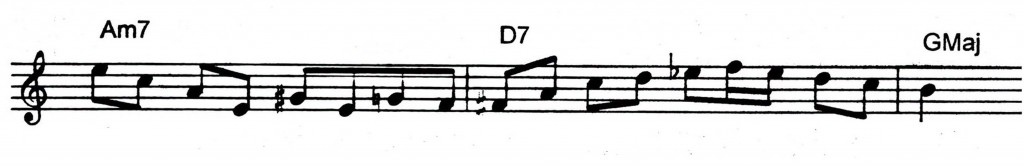 Famous ii V7 I lick you hear a lot of musicians play - Jazz lick 8