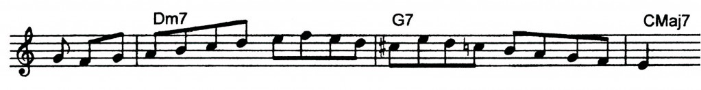 Major ii V7 I Tom Harrell lick with a b9 in it - Jazz Lick 32