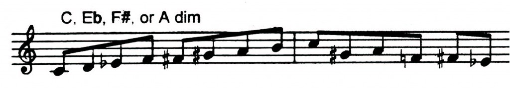 Diminished pattern I got from a Bobby Shew Jazz book - Jazz lick 35.