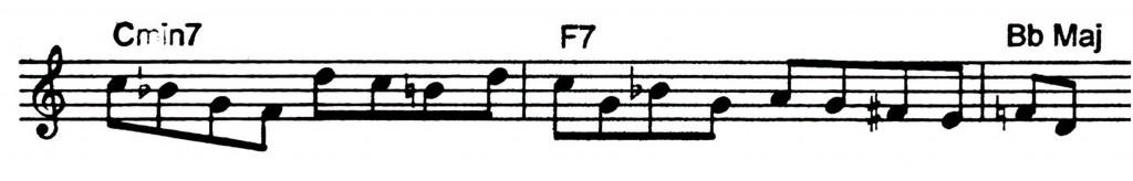 A ii V7 I Jazz lick I heard Clifford Brown play on trumpet - Jazz lick 34.