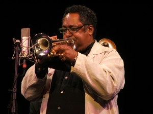 Jon Faddis playing some trumpet.