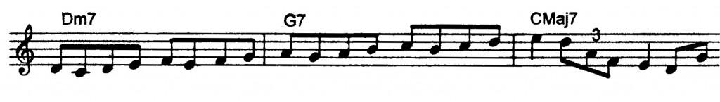 Dominant ii V7 I Jazz-lick