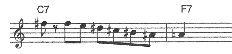 Tritone diminished combination jazz lick