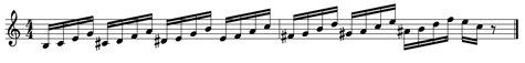 Diatonic triad lick with half step